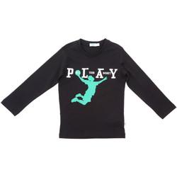 textil Barn Långärmade T-shirts Melby 70C5524 Svart