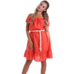 textil Dam Korta klänningar Liu Jo FA0173 T4191 Orange