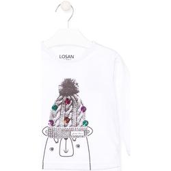 textil Barn Långärmade T-shirts Losan 026-1007AL Vit