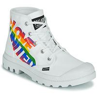Skor Boots Palladium PAMPA HI PRIDE Vit / Flerfärgad