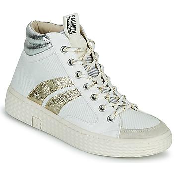 Skor Dam Höga sneakers Palladium Manufacture TEMPO 03 TXT Vit