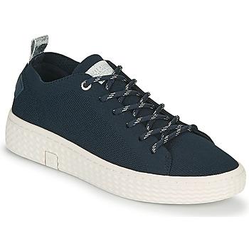Skor Dam Sneakers Palladium Manufacture TEMPO 06 KNIT Marin