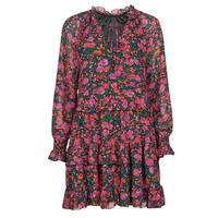 textil Dam Korta klänningar Moony Mood NOMINA Svart / Rosa