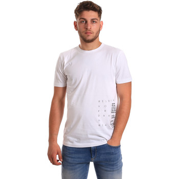 textil Herr T-shirts Antony Morato MMKS01223 FA100144 Vit