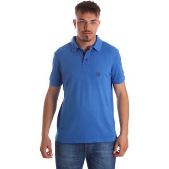 textil Herr Kortärmade pikétröjor Gaudi 911BU64063 Blå