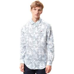 textil Herr Långärmade skjortor Napapijri N0YIDA Vit