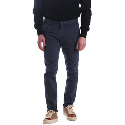 textil Herr Chinos / Carrot jeans Automatic PAU22172 Blå