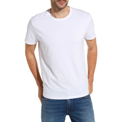 textil Herr T-shirts Wrangler W7500F Vit