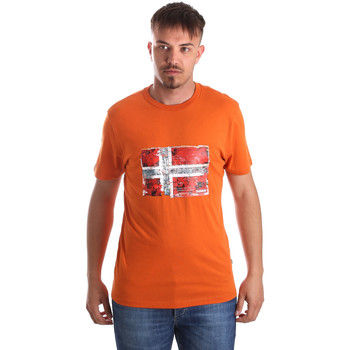 textil Herr T-shirts Napapijri N0YIJ4 Orange