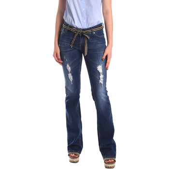 textil Dam Jeans boyfriend Fornarina BER1I98D834CE Blå