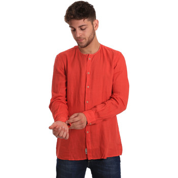 textil Herr Långärmade skjortor Gaudi 811BU45022 Röd