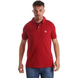 textil Herr Kortärmade pikétröjor Gaudi 911BU64063 Röd