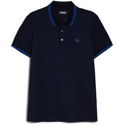 textil Herr Kortärmade pikétröjor Nero Giardini E072370U Blå