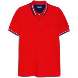 textil Herr Kortärmade pikétröjor Nero Giardini E072390U Röd