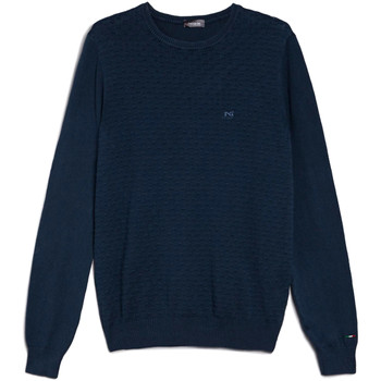textil Herr Tröjor NeroGiardini E074600U Blå