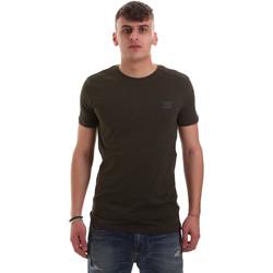 textil Herr T-shirts Antony Morato MMKS01417 FA120001 Grön