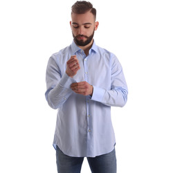 textil Herr Långärmade skjortor Gmf 962111/21 Blå