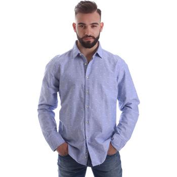 textil Herr Långärmade skjortor Gmf 962118/03 Blå
