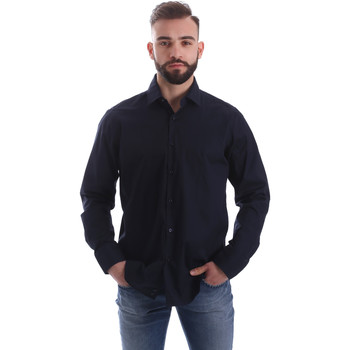 textil Herr Långärmade skjortor Gmf 962250/01 Blå