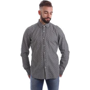 textil Herr Långärmade skjortor Gmf 962169/04 Svart