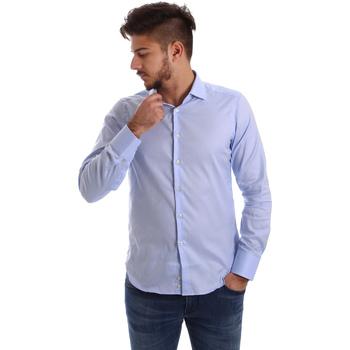 textil Herr Långärmade skjortor Gmf 962103/03 Blå