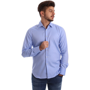 textil Herr Långärmade skjortor Gmf 962103/04 Blå