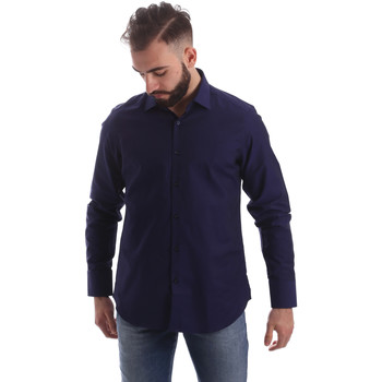 textil Herr Långärmade skjortor Gmf 962103/05 Blå