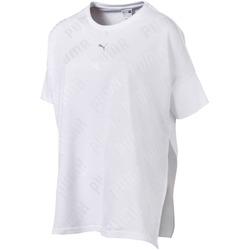 textil Dam T-shirts Puma 575090 Vit