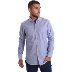 textil Herr Långärmade skjortor Gmf 971263/01 Blå