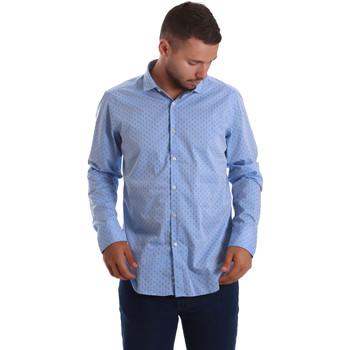 textil Herr Långärmade skjortor Gmf 971208/03 Blå