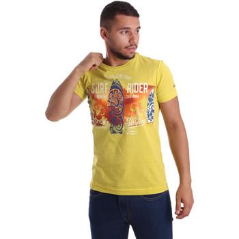 textil Herr T-shirts Navigare N631017 Gul