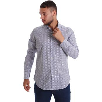 textil Herr Långärmade skjortor Gmf 971184/02 Blå