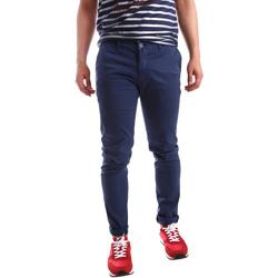 textil Herr Chinos / Carrot jeans Sei3sei PZV21 7183 Blå