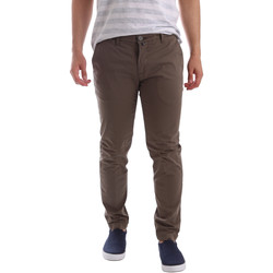 textil Herr Chinos / Carrot jeans Sei3sei PZV89 7147 Brun