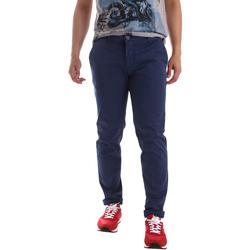 textil Herr Chinos / Carrot jeans Sei3sei PZV89 71336 Blå