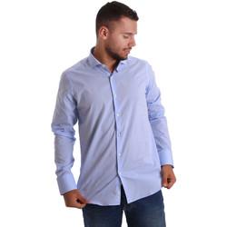textil Herr Långärmade skjortor Gmf 971101/03 Blå