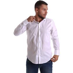 textil Herr Långärmade skjortor Gmf 971250/01 Vit