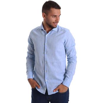 textil Herr Långärmade skjortor Gmf 971306/02 Blå