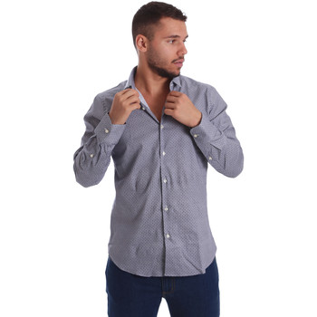 textil Herr Långärmade skjortor Gmf 971185/03 Svart