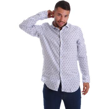 textil Herr Långärmade skjortor Gmf 971312/01 Blå