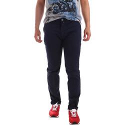 textil Herr Chinos / Carrot jeans Sei3sei PZV20 7148 Blå