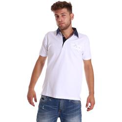 textil Herr Kortärmade pikétröjor Bradano 000115 Vit