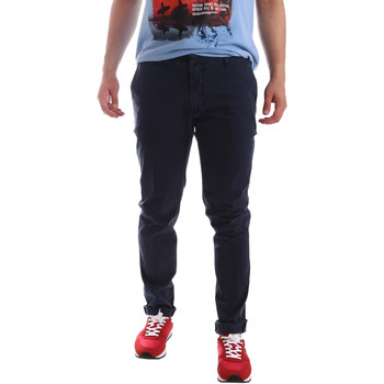 textil Herr Chinos / Carrot jeans Sei3sei PZV156 71341 Blå