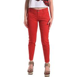 textil Dam Chinos / Carrot jeans Fornarina BE171L74G29176 Röd