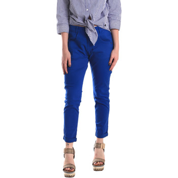 textil Dam Chinos / Carrot jeans Fornarina BE171L75G29112 Blå
