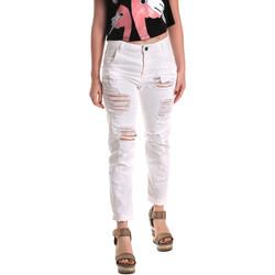 textil Dam Jeans boyfriend Fornarina BE171L94D877KM Vit