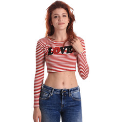 textil Dam Långärmade T-shirts Fornarina BE175L14JG0976 Röd