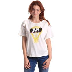 textil Dam T-shirts Fornarina BE175L27JG1608 Vit