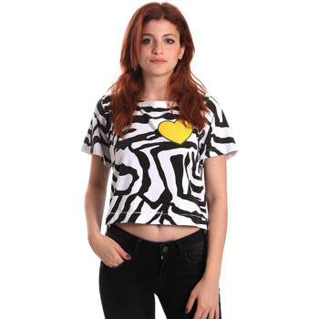 textil Dam T-shirts Fornarina BE175L35JG0700 Svart