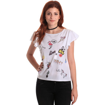 textil Dam T-shirts Fornarina BE175L40JG0709 Vit